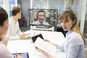 Vergaderen op afstand Skype