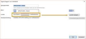 OneNote: locatie wijzigen van een Notitieblok