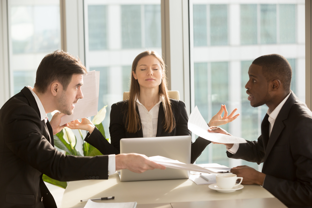 Afbeeldingsresultaat voor stress in vergadering
