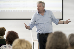 Dick van der Boor op de Management Support Workshopdagen