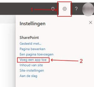 Toevoegen takenlijst in SharePoint